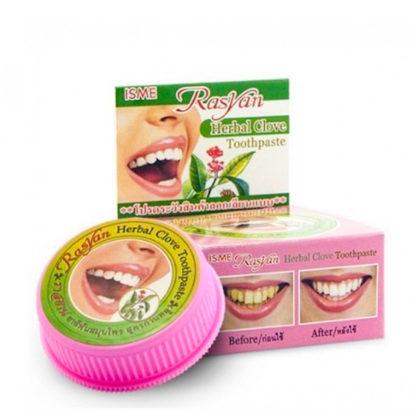 Знаменитая отбеливающая тайская зубная паста - Herbal Clove с гвоздикой