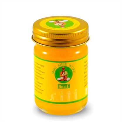 Согревающий желтый бальзам Mho Shee Woke с камфорой и маслом корицы