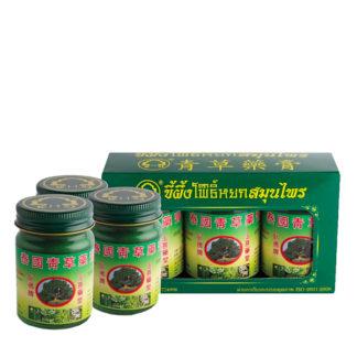 Набор тайского зеленого бальзама на натуральных травах Phoyok Herbal Balm