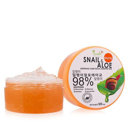 Увлажняющий гель с муцином улитки и алоэ Moods Snail & Aloe Gel 98%