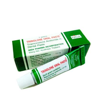 Лучшая мазь от стоматита и воспалений Триналон - Trinalone oral paste Nida