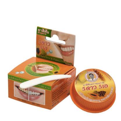 Травяная зубная паста «5 Звезд 5А» с гвоздикой и папайей