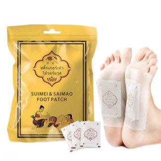 Пластыри для ног детоксационные - Suimei & Saimao foot patch для ног - очистка от токсинов и снятие усталости