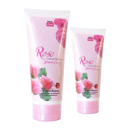 Крем для ухода за руками и ногтями с розовым маслом - BANNA Hand & Nail Cream Rose, 200 мл